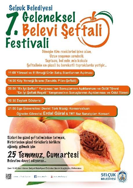 Selçuk İlçesi Şeftali Festivali İle Renklenecek