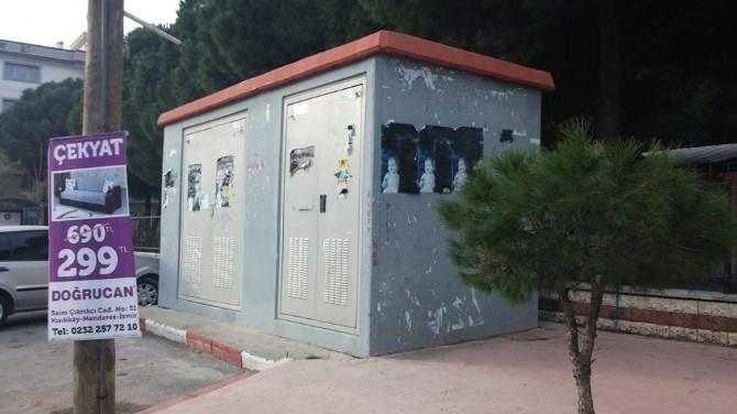 Menderes'teki Trafolara Sanatsal Düzenleme