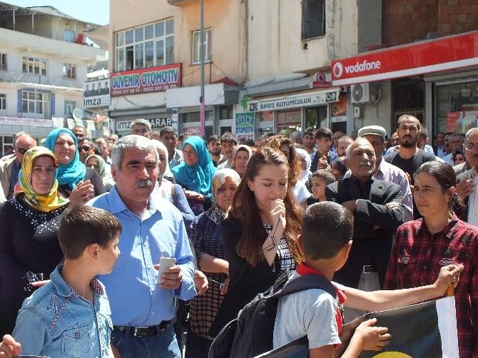 Malazgirt'te Öcalan İçin Basın Açıklaması