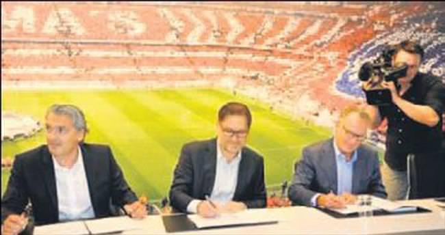 Bayern Münih'in sponsoru Gigaset oldu
