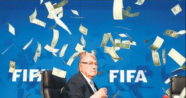 Blatter'e $'lı protesto