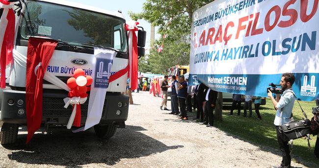 Erzurum'a dev araç filosu!