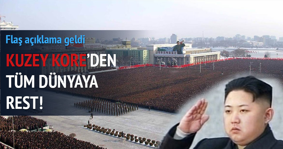 Kuzey Kore'den dünyaya rest