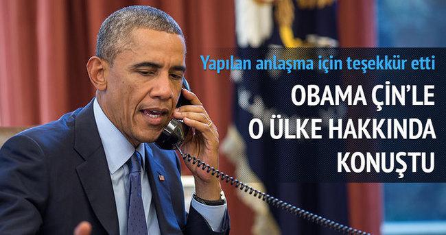 Obama Çin'le İran'ı konuştu