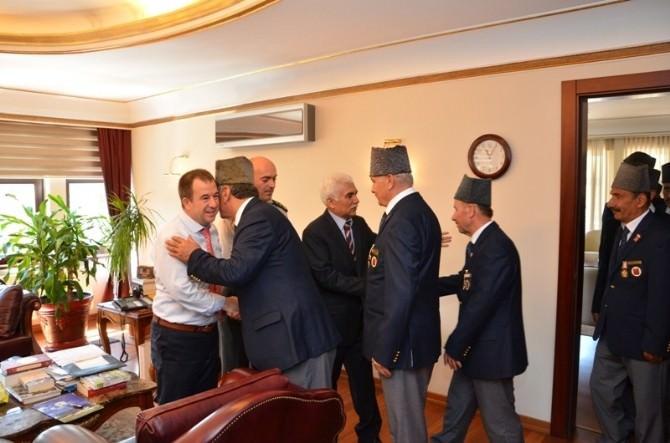 Muharip Gaziler Derneği'nden Vali Alimoğlu'na Ziyaret