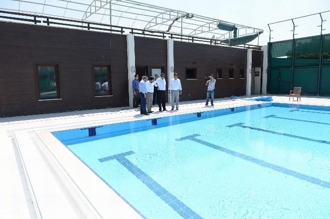 Soğanlı Yarı Olimpik Yüzme Havuzu Yenileniyor