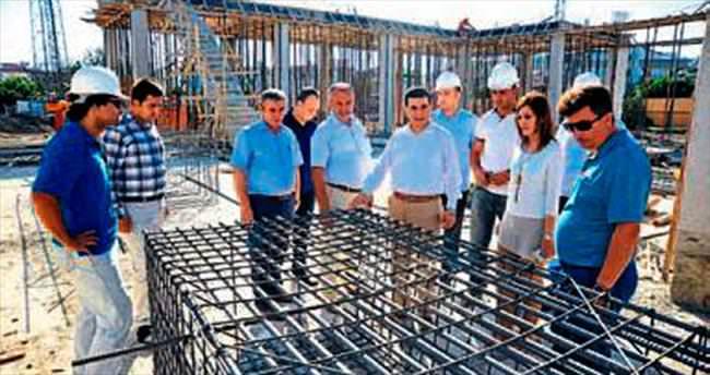 Tütüncü'den cami inşaatına sıkı takip