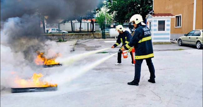 'Yangın tüpleri can güvenliğinin sigortası'