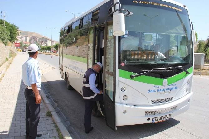 Bitlis'te Şehir İçi Ulaşım Araçlarına Denetim