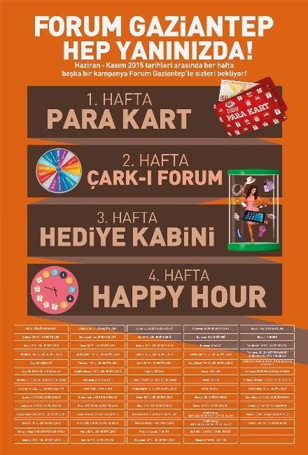 Forum Gaziantep'te Kazandıran Kampanyalar Devam Ediyor