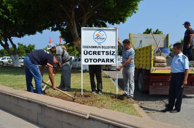 İskenderun'da Ücretsiz Otopark Alanları Oluşturuldu