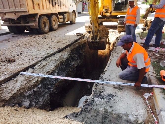 ASKİ'den Hayal Park Civarına Yeni Kanalizasyon Hattı
