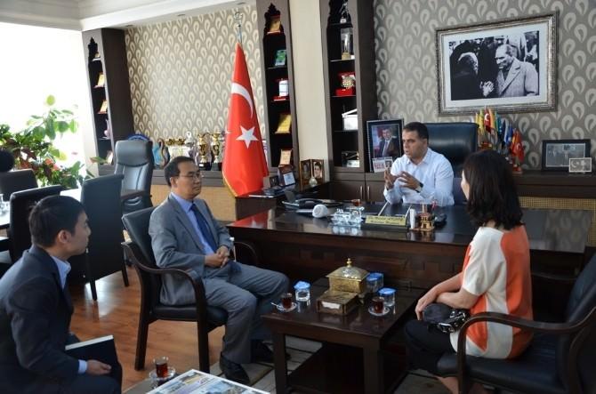 Kore Büyükelçisi Cho; Başkan Aksoy'u Ziyaret Etti