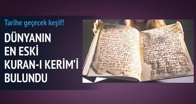 Dünya'nın en eski Kuran'ı İngiltere'de