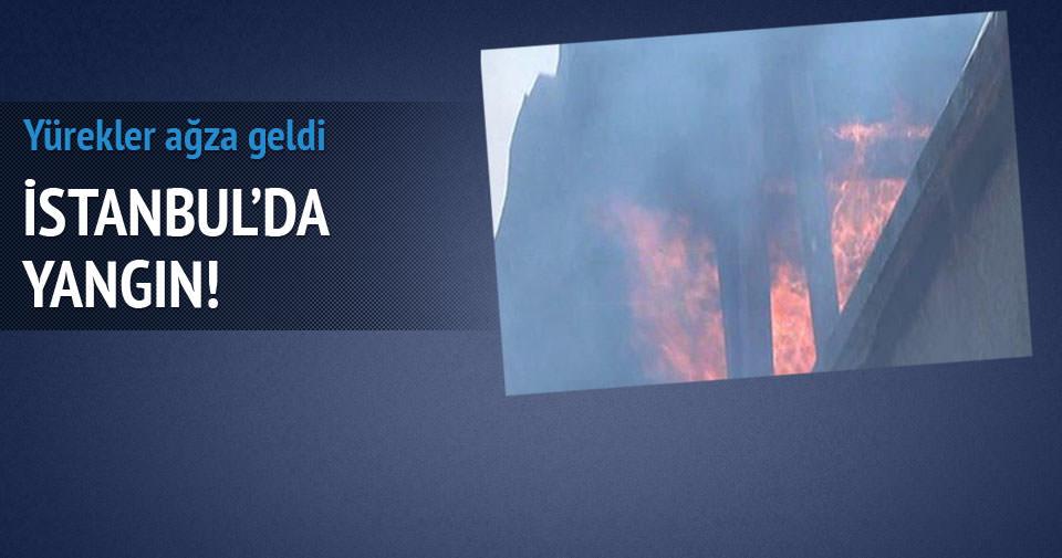 Yedikule'de yangın!