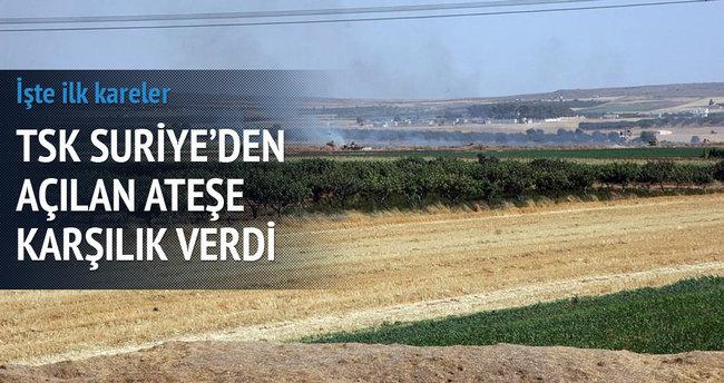 TSK Suriye'den açılan ateşe karşılık verdi