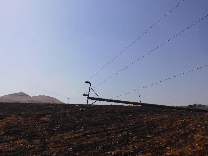 Yine Anız Yangını, 6 Köy Elektriksiz Kaldı