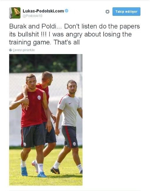 Podolski'den Açıklama Geldi