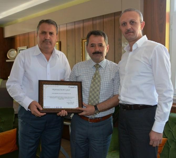 Uçar'dan Başkan Çerçi'ye Teşekkür Ziyareti