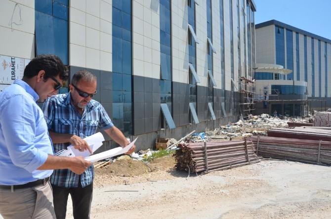 Belediye Başkan Yardımcısı Ay, Kyk Öğrenci Yurdu İnşaatındaki Çalışmaları İnceledi