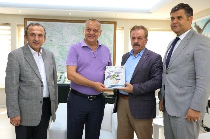 MTSO Başkanı Erbil, Başkan Ergün'ü Ziyaret Etti