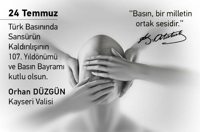 Kayseri Valisi Orhan Düzgün: