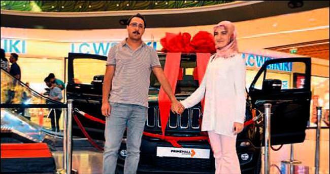 Çekilişle kazandığı otomobil düğün arabası olacak