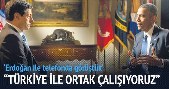 Obama: Türkiye ile ortak çalışıyoruz
