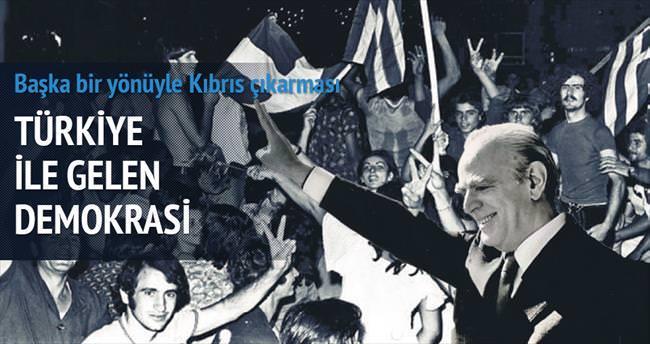 Türkiye sayesinde gelen demokrasi