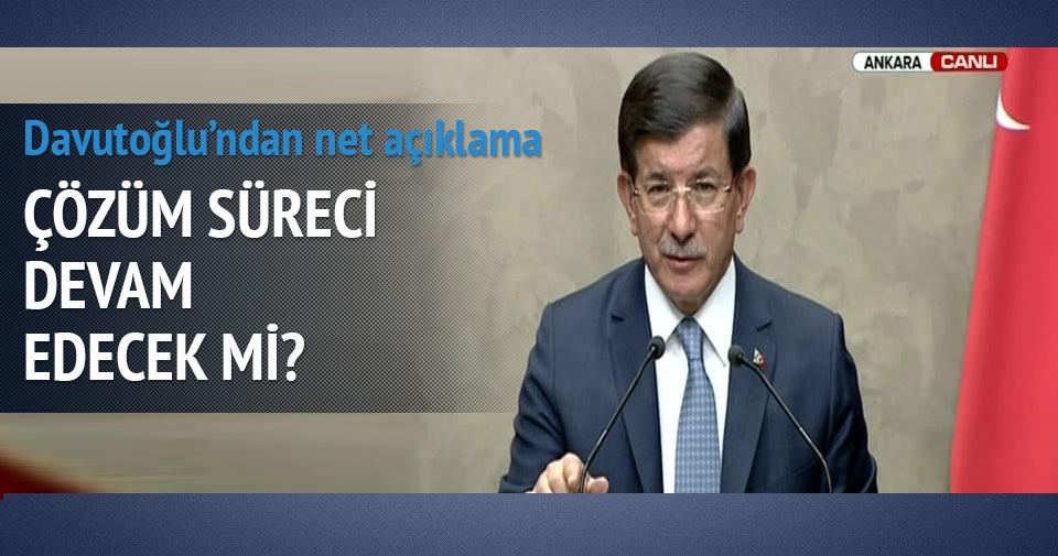 Davutoğlu'ndan önemli çözüm süreci açıklaması