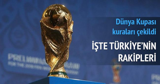 Dünya Kupası'nda Türkiye'nin rakipleri belli oldu