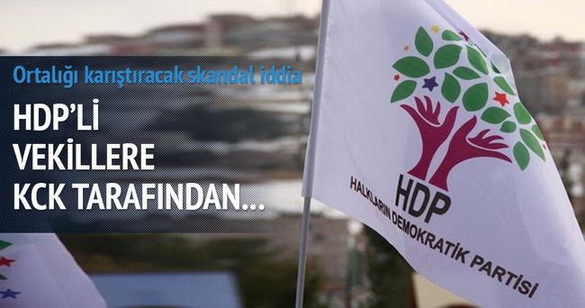 HDP ve KCK terör örgütüyle ilgili skandal iddia