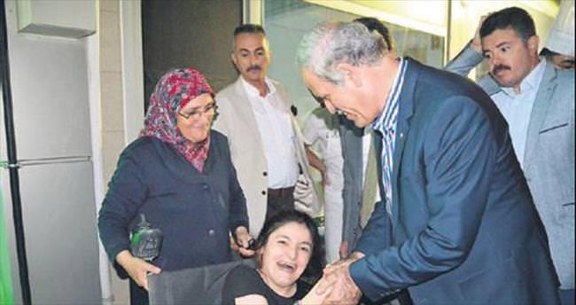 Engelli Feride'den Başkan'a teşekkür