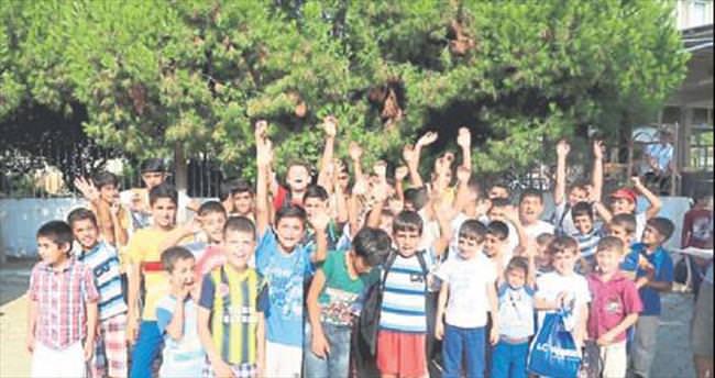 Çocuklar serinledi aileleri rahatladı