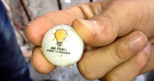 AK Parti logolu 'plastik mermi' bakın ne çıktı
