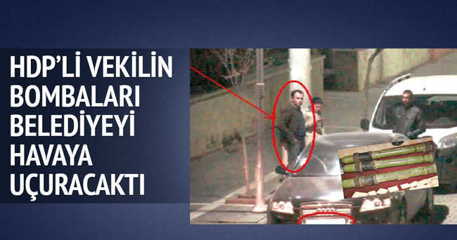 HDP'li vekilin bombaları belediye havaya uçurulacaktı
