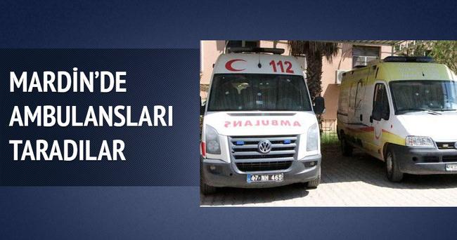 Mardin'de ambulanslar tarandı