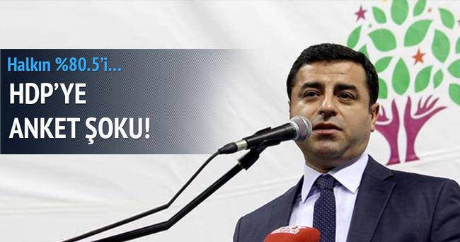 HDP'ye anket şoku!