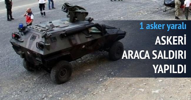 Askeri araca saldırı: 1 yaralı