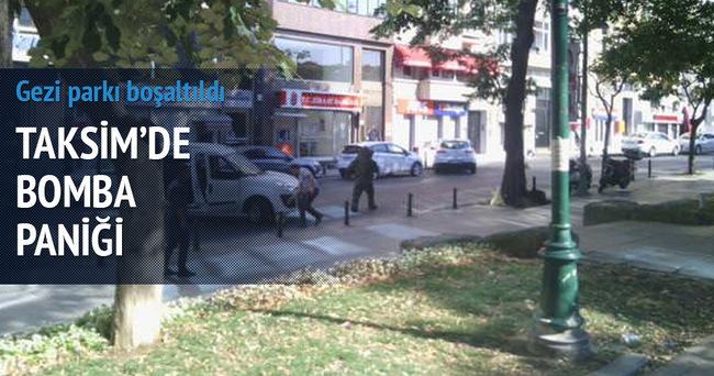 Taksim'de bomba ihbarı