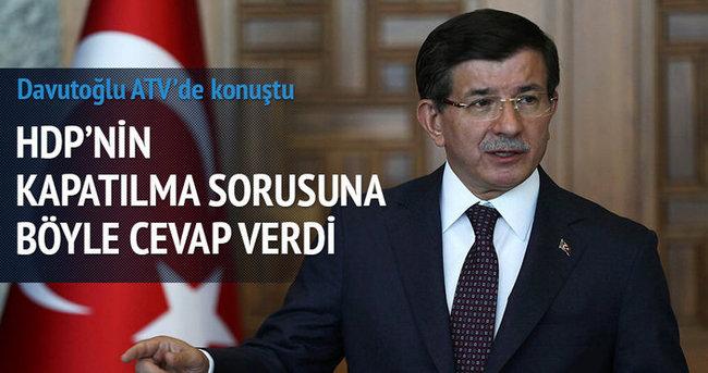 Davutoğlu: Parti kapatmaya ilkesel olarak karşıyım
