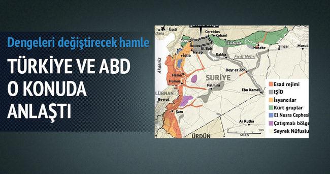 Flaş iddia: Türkiye ve ABD IŞİD'den arındırılmış bölge konusunda anlaştı