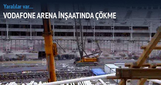 Vodafone Arena'da iskele çöktü!