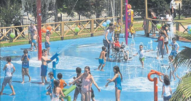 Su oyun parkı hizmete açıldı