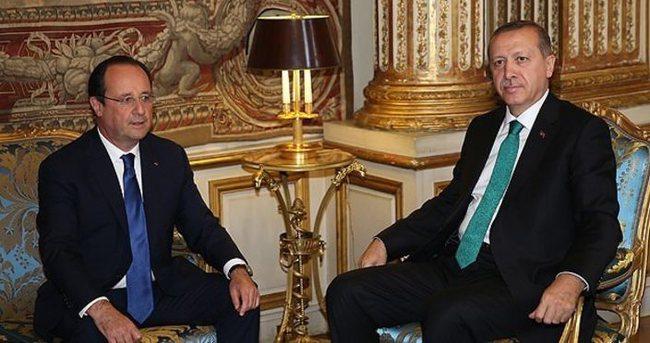 Hollande'dan Erdoğan'a teşekkür