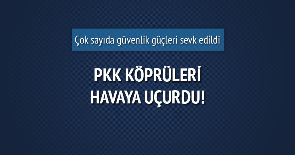 Terör örgütü PKK iki köprüyü havaya uçurdu!