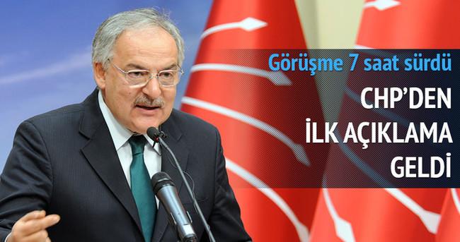 7 saatlik AK Parti-CHP görüşmesinden sonra ilk açıklama