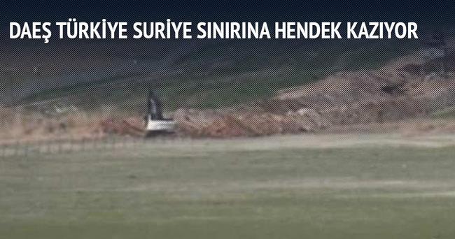 IŞİD Türkiye sınırında hendek kazıyor