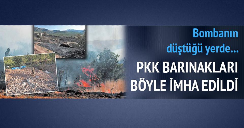 PKK barınakları böyle imha edildi