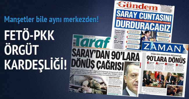 PKK ile FETÖ medyasının ortak manşetleri!
